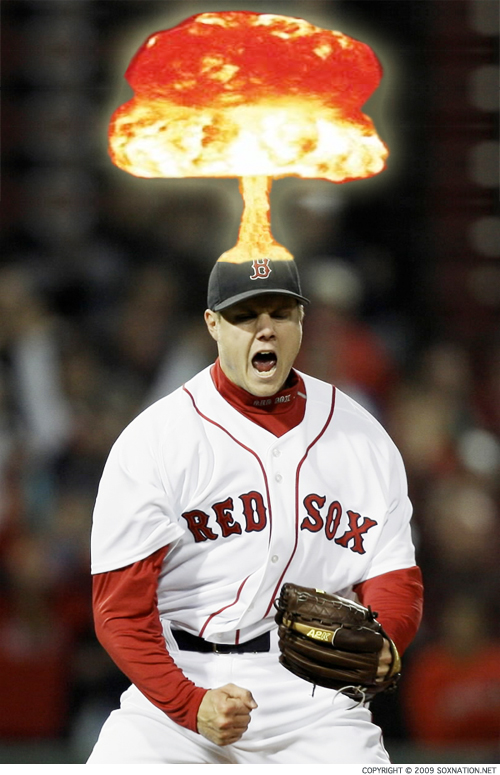 Jonathan Papelbon melted down in Game 3 of the 2009 ALDS.