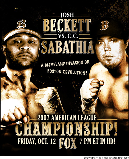 Boston Red Sox pitcher Josh Beckett vs. Cleveland Indians pitcher C.C. Sabathia in Game of of 2007 ALCS