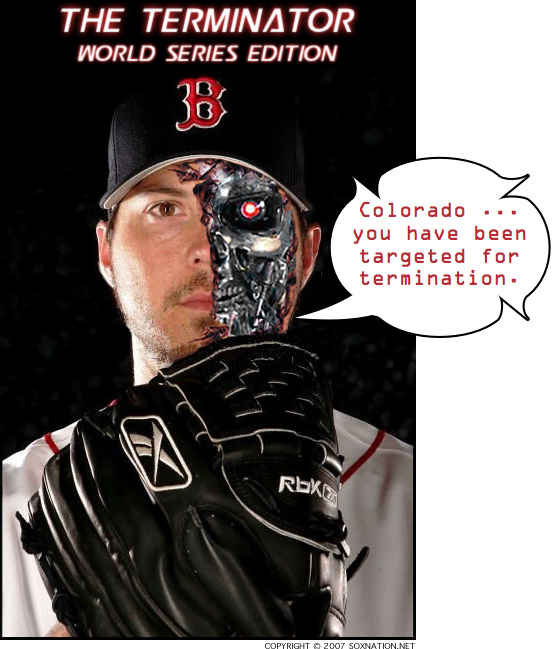 Josh Beckett will take the mound for the Red Sox in Game 1 of the 2007 World Series