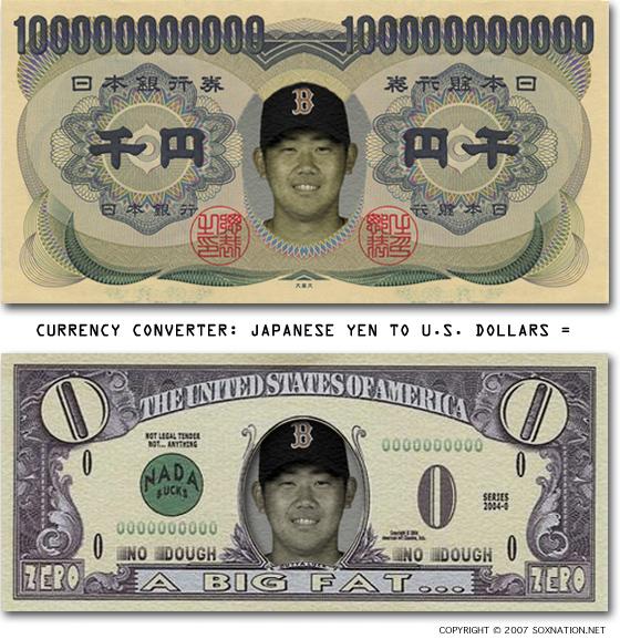 Daisuke 'Dice-K' Matsuzaka, Boston's $103 million man, dropped Game 3 of the 2007 ALCS