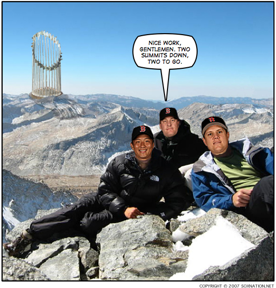 Curt Schilling, Hideki Okajima and Jonathan Papelbon smoked the Colorado Rockies