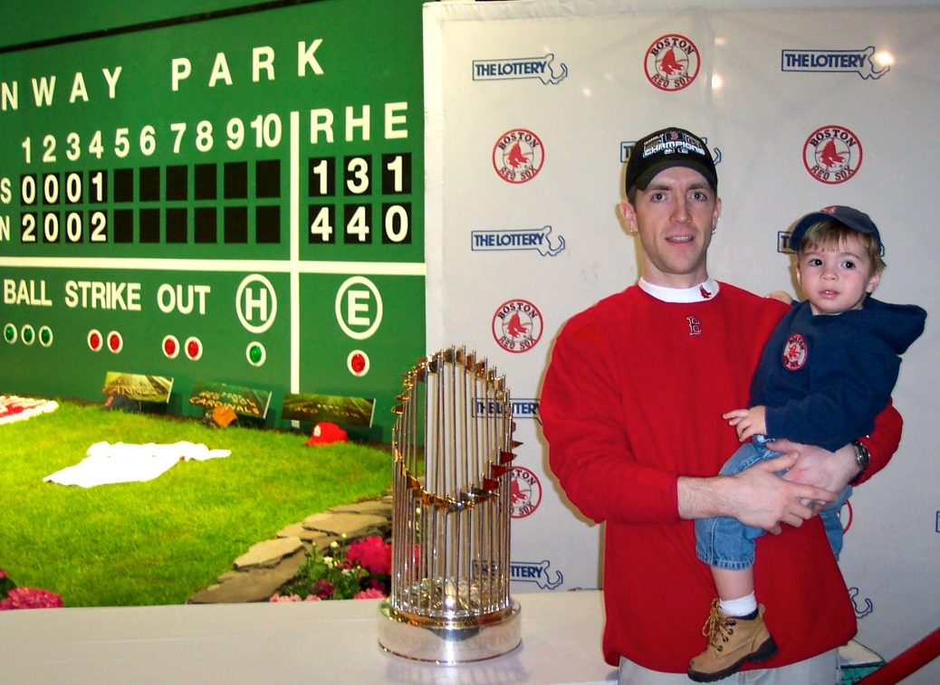 2004 Red Sox World Series trophy